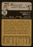 1973 Topps #31 xGAP Buddy Bell  Back Thumbnail