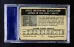 1954 Wilson Franks  Enos Slaughter  Back Thumbnail