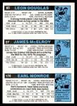 1980 Topps   -  Earl Monroe / James McElroy / Leon Douglas 170 / 27 / 85 Back Thumbnail