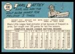 1965 Topps #490  Earl Battey  Back Thumbnail