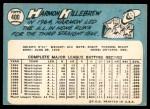 1965 Topps #400  Harmon Killebrew  Back Thumbnail
