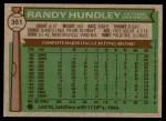 1976 Topps #351  Randy Hundley  Back Thumbnail