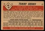 1953 Bowman #42  Tommy Brown  Back Thumbnail