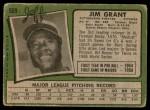 1971 Topps #509  Mudcat Grant  Back Thumbnail