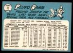 1965 Topps #13  Pedro Ramos  Back Thumbnail