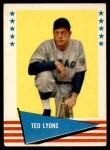 1961 Fleer #122  Ted Lyons  Front Thumbnail