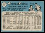 1965 O-Pee-Chee #83  George Thomas  Back Thumbnail