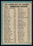 1965 O-Pee-Chee #7   -  Dean Chance / Joel Horlen AL ERA Leaders Back Thumbnail