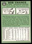 1967 Topps #349  Bob Chance  Back Thumbnail