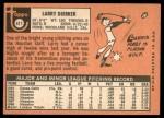 1969 Topps #411  Larry Dierker  Back Thumbnail