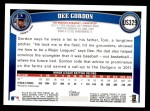 2011 Topps Update #329  Dee Gordon  Back Thumbnail