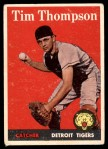 1958 Topps #57 WN Tim Thompson  Front Thumbnail