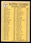 1970 Topps #61   -  Roberto Clemente / Pete Rose / Cleon Jones NL Batting Leaders Back Thumbnail