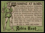 1957 Topps Robin Hood #23   Aiming At Robin Back Thumbnail