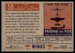 1952 Topps Wings #59   H-21 Back Thumbnail