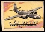 1952 Topps Wings #67   A-20 Havoc Front Thumbnail