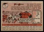 1958 Topps #35 YT Don Mossi  Back Thumbnail