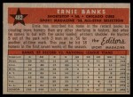 1958 Topps #482   -  Ernie Banks All-Star Back Thumbnail