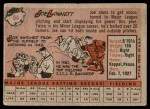 1958 Topps #64  Joe Lonnett  Back Thumbnail