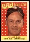 1958 Topps #479   -  Nellie Fox All-Star Front Thumbnail