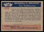 1959 Fleer #30   -  Ted Williams  Beating the Shift Back Thumbnail