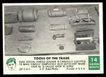 1966 Philadelphia Green Berets #14   Tools of The Trade Front Thumbnail