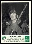 1966 Philadelphia Green Berets #57   Always Alert Front Thumbnail