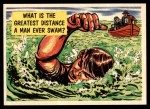 1957 Topps Isolation Booth #59   Greatest Distance Man Ever Swam Front Thumbnail