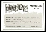 1964 Leaf Munsters #27   Marilyn - I Sure Like Your New Back Thumbnail