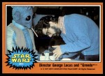1977 Topps Star Wars #305   Director George Lucas and Greedo Front Thumbnail