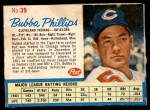 1962 Post Cereal #39  Bubba Phillips   Front Thumbnail