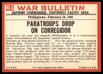 1965 Philadelphia War Bulletin #61   Assault from Above Back Thumbnail