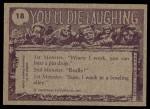 1973 Topps You'll Die Laughing #18   And papa bear said Back Thumbnail