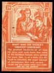 1957 Topps Isolation Booth #39   World's Greatest Landslide Back Thumbnail