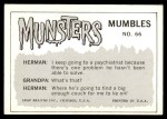 1964 Leaf Munsters #66   I Got this Medal for Being Back Thumbnail