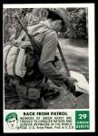 1966 Philadelphia Green Berets #29   Back From Patrol Front Thumbnail