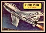 1957 Topps Planes #29 BLU  F-86H Sabre Front Thumbnail