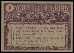 1973 Topps You'll Die Laughing #5   That's the most ridiculous face Back Thumbnail