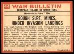 1965 Philadelphia War Bulletin #44   Storm and Steel Back Thumbnail