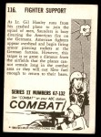 1964 Donruss Combat #116   Fighter Support Back Thumbnail