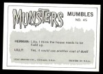 1964 Leaf Munsters #45   I Must Wait for the Mailman Back Thumbnail