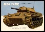 1954 Topps World on Wheels #42   M24 Tank Front Thumbnail