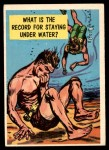 1957 Topps Isolation Booth #60   Record for Staying Underwater Front Thumbnail