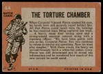 1965 Topps Battle #44   The Torture Chamber  Back Thumbnail