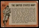 1965 Topps Battle #54   The United States Navy  Back Thumbnail