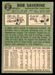 1967 Topps #27  Bob Saverine  Back Thumbnail