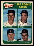 1965 Topps #573   -  Jim Lonborg / Mike Ryan / Gerry Moses / Bill Schlesinger  Red Sox Rookies Front Thumbnail
