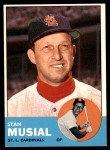 1963 Topps #250  Stan Musial  Front Thumbnail