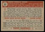 1952 Topps #37  Duke Snider  Back Thumbnail