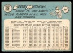 1965 Topps #500  Eddie Mathews  Back Thumbnail